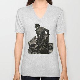 Wuthering Heights Emily Bronte Heathcliff Illustration Unisex V-Neck