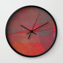 """Pastel Abstract Symmetrical Landscape"" Wall Clock"