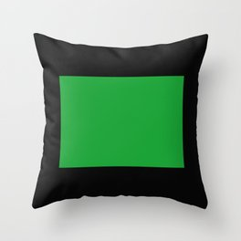 Colorado in Vert Throw Pillow