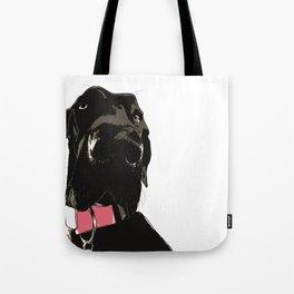 Black Great Dane Dog Tote Bag