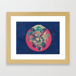 On Silent Wings Framed Art Print