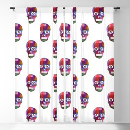 Crunchy Passion Skull pattern by Adam Cooley Blackout Curtain