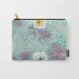 Floral Hawaii Carry-All Pouch