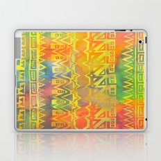AZTEC STRIPE - yellow Laptop & iPad Skin