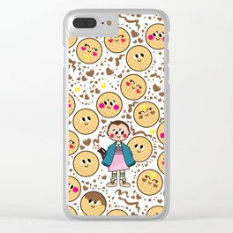 aloha eleven and waffles Clear iPhone Case