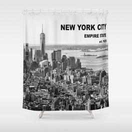 New York, Manhattan (Black & White) Shower Curtain