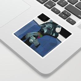 Raccoon self-portrait Sticker
