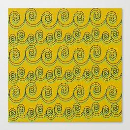 swirlies Canvas Print