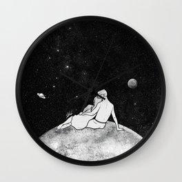 The greatest moon. Wall Clock