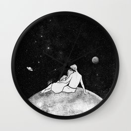 The greatest moon. Wall Clock
