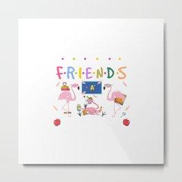 We're More Than Just Teacher Friends Flamingo Gift Funny T-Shirt Metal Print