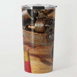 Old Double Barrel Stevens Travel Mug