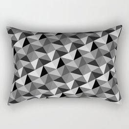 Pattern of triangles in gray shades Rectangular Pillow