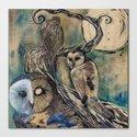 Owls by katiekillustration