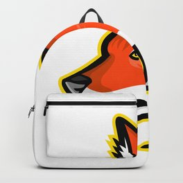 Dhole or Asiatic Wild Dog Mascot Backpack
