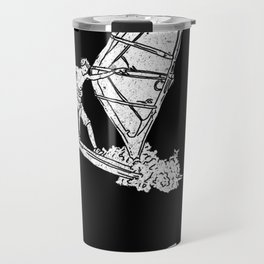 Windsurf Pattern black Travel Mug