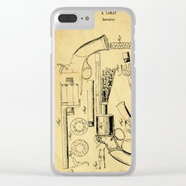Revolver Support Patent Drawing From 1856 Clear iPhone Case