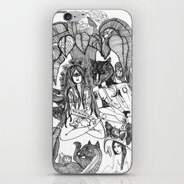 Wolf Yogi and Yogini iPhone Skin