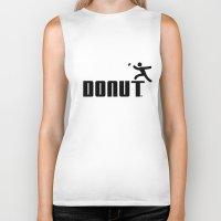 donut Biker Tanks featuring Donut by Daniac Design