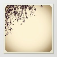 silhouette Canvas Prints featuring Silhouette by Skye Zambrana