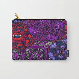 Spooky Flowers Carry-All Pouch