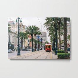 Canal Streetcar Metal Print
