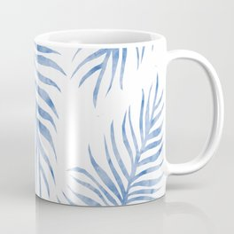 Fern Pattern Blue Coffee Mug