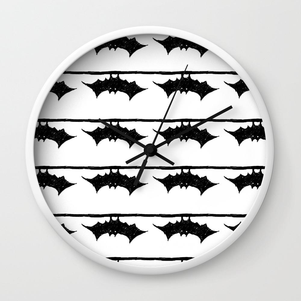 Bat Friend Wall Clock By Ninapedia