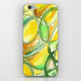 Yellow And Green Number Four iPhone Skin