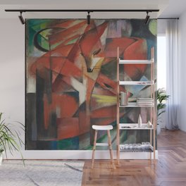 Franz Marc's Foxes Wall Mural