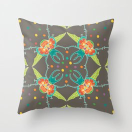 Fiesta Beetle Throw Pillow