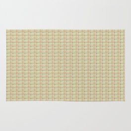 Pink and Green Plaid Rug