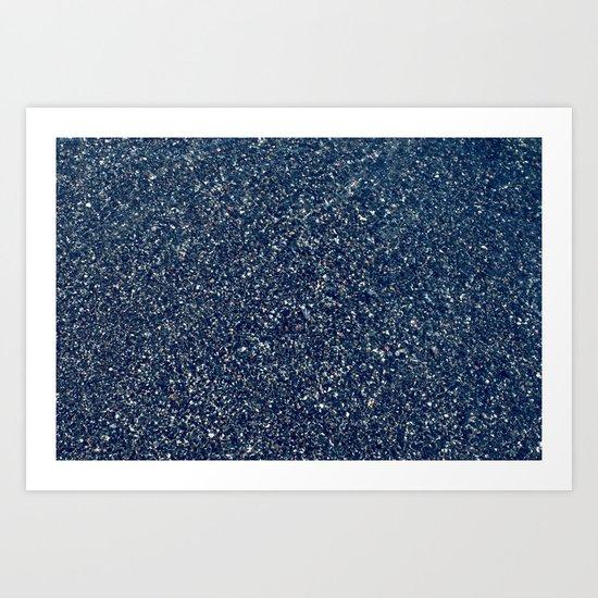 Black Sand II (Blue) Art Print