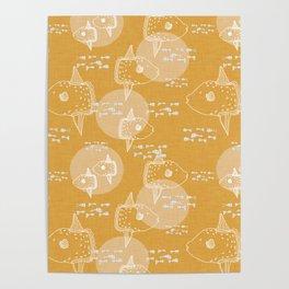 Mola Mola Yellow-Ocean sunfish Poster