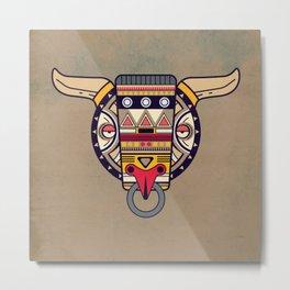 Abstract buffalo Metal Print