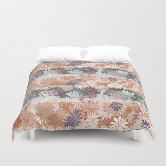 Floral Stripes Duvet Cover