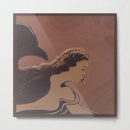 Mermaid / Sketch Metal Print