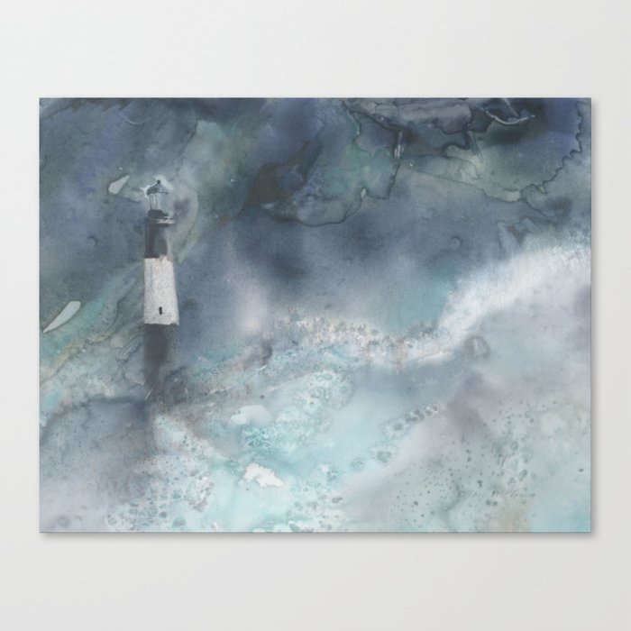 Night Storm at Tybee Lighthouse Canvas Print