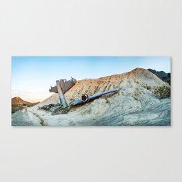 Desert Plane Wreckage Canvas Print