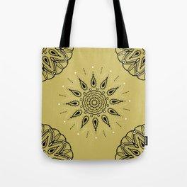 Central Mandala Dijon Tote Bag