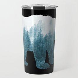 Misty Forest Bear - Turqoise Travel Mug