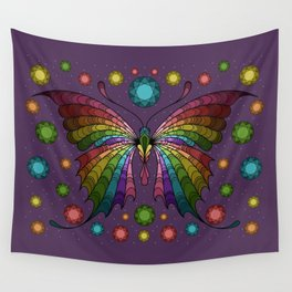 Diamond in the Sky Butterfly Wall Tapestry