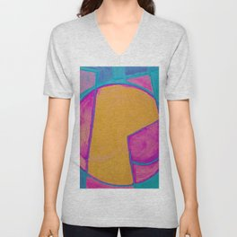 Geometric Reconstruction Unisex V-Neck