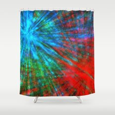 Abstract Big Bangs 001 Shower Curtain