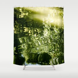 Reflecting Greens Shower Curtain