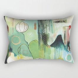 """""""Fly Home"""" Original Painting by Flora Bowley Rectangular Pillow"""