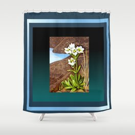 High Country Gentian Flower Shower Curtain