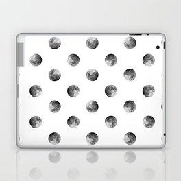 Lunar Moon - white Laptop & iPad Skin