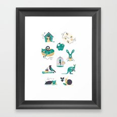 Homes Framed Art Print
