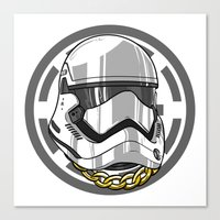 storm trooper Canvas Prints featuring Storm Trooper by KODYMASON